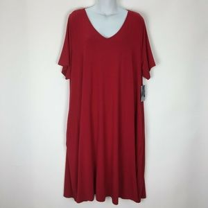 Catherines 2XWP Red Dress Plus Stretch Petite